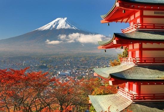 Volcán en Japón