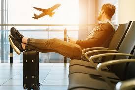 esperando vuelo