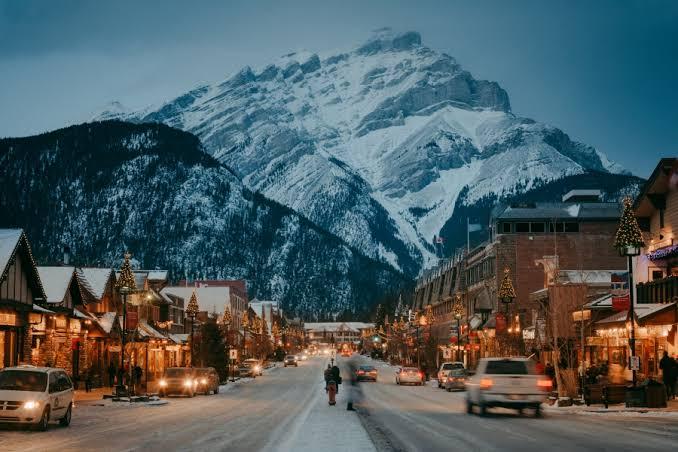 Canadá en noche de invierno