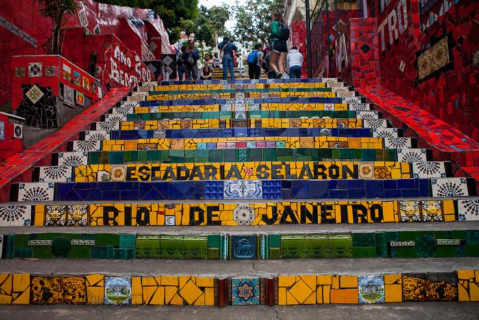 Escalera en Río de Janeiro