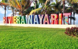 Letrero de Riviera Nayarit